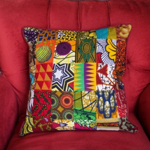 cushion cover in patchwork